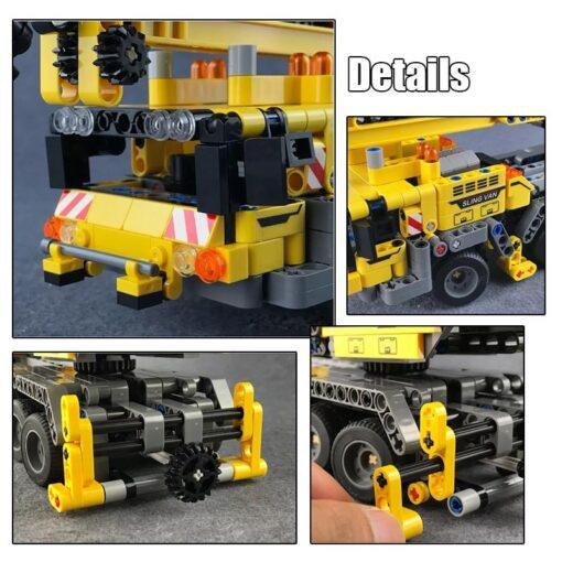 SEMBO Fit Technic Mobile Crane Creator Expert Ideas Bricks Set 665pcs City Engineer Crab Building Blocks 3