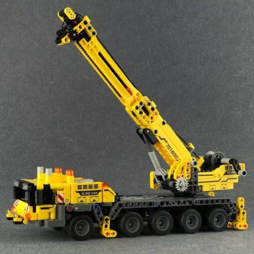 SEMBO Fit Technic Mobile Crane Creator Expert Ideas Bricks Set 665pcs City Engineer Crab Building Blocks 4