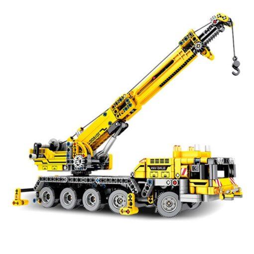 SEMBO Fit Technic Mobile Crane Creator Expert Ideas Bricks Set 665pcs City Engineer Crab Building Blocks 5