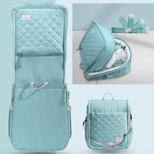 SUNVENO Portable Baby Crib Travel Folding Baby Bed Bag Infant Toddler Cradle Multifunction Storage Bag For 3