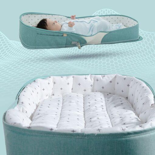 SUNVENO Portable Baby Crib Travel Folding Baby Bed Bag Infant Toddler Cradle Multifunction Storage Bag For 4