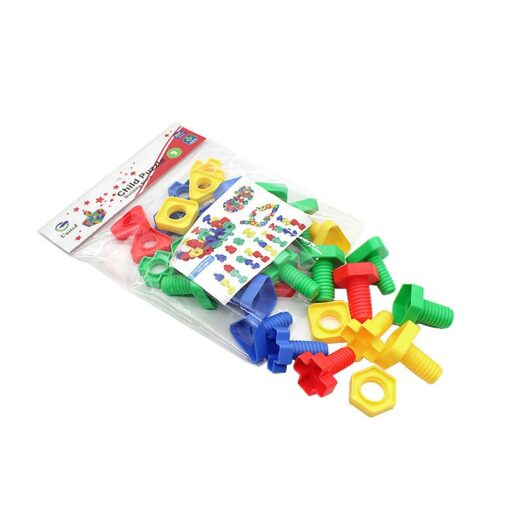 Screwing building blocks plastic insert nut matching inserted toys Educational Building Construction Screw Matching puzzle Toys 4