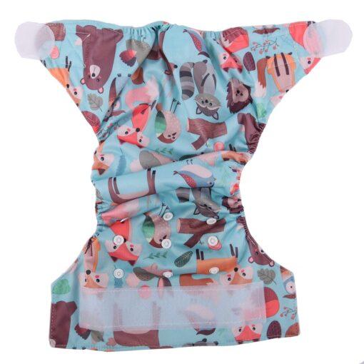 Sigzagor 1 Baby Pocket Cloth Diaper Nappy Hook Loop Wide Waist Stripe Tabs 2
