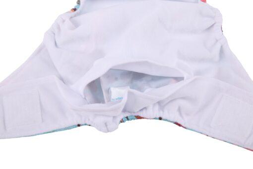 Sigzagor 1 Baby Pocket Cloth Diaper Nappy Hook Loop Wide Waist Stripe Tabs 4