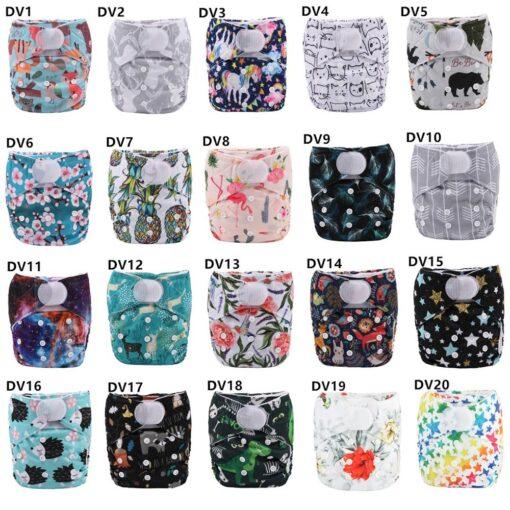 Sigzagor 1 Baby Pocket Cloth Diaper Nappy Hook Loop Wide Waist Stripe Tabs 5