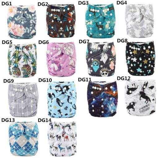Sigzagor 1 Baby Pocket Cloth Diaper Nappy Reusable Washable Adjustable 3kg 15kg 8lbs 36lbs Kids 4
