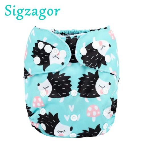 Sigzagor 1 Baby Pocket Cloth Diaper Nappy Reusable Washable Adjustable 3kg 15kg 8lbs 36lbs Kids