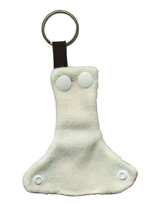 Sigzagor 1 Cute Mini Tiny Cloth Diaper Keychain Key Chain Adorable Snap Baby Shower Gift 3