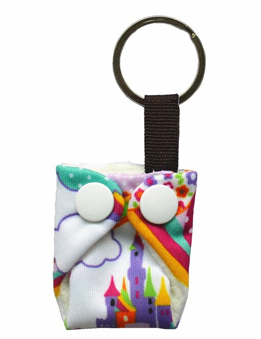 Sigzagor 1 Cute Mini Tiny Cloth Diaper Keychain Key Chain Adorable Snap Baby Shower Gift 5