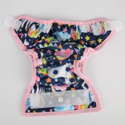 Sigzagor 1 Newborn Baby Hook and Loop Cloth Diaper Cover Nappy Double Gusset 4 4 3