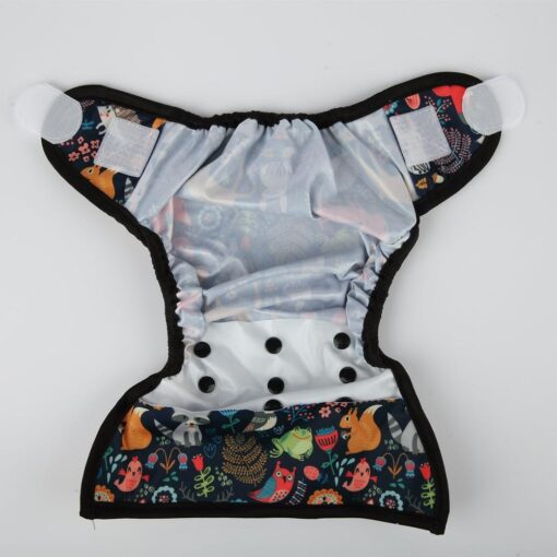 Sigzagor 1 OS One Size Baby Cloth Diaper Cover Nappy Hook and Loop Double Gusset 3