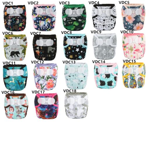 Sigzagor 1 OS One Size Baby Cloth Diaper Cover Nappy Hook and Loop Double Gusset 5