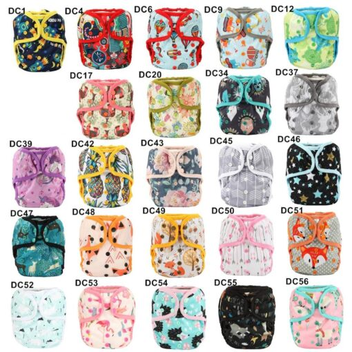 Sigzagor 1 OS One Size Baby Cloth Diaper Cover Nappy Waterproof Double Gusset 4 13kg 5