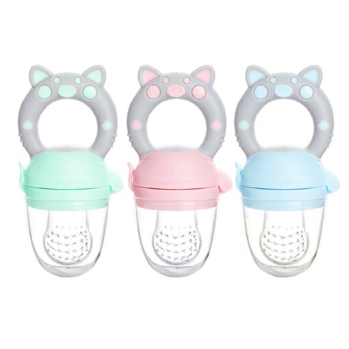 Silicone Baby Pacifier Feeder Cartoon Animal Infant Nipple Holder Newborn Fruit pacifier Silicona nipple Appease artifact 1