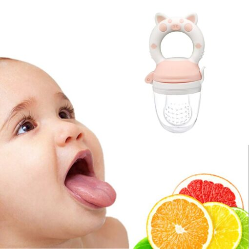 Silicone Baby Pacifier Feeder Cartoon Animal Infant Nipple Holder Newborn Fruit pacifier Silicona nipple Appease artifact 2