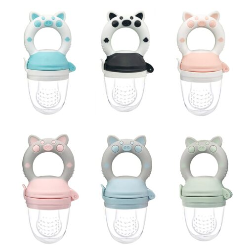 Silicone Baby Pacifier Feeder Cartoon Animal Infant Nipple Holder Newborn Fruit pacifier Silicona nipple Appease artifact