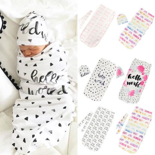 Size15CMX10CM Newborn Baby Infant Summer Swaddle Little Sister Brother Blanket Wraps Sleeping Bag 100cm Cotton 0