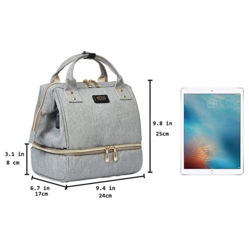 Small Mummy Maternity Baby Diaper Bag Backpack For Moms Gray Fashion Nappy Changing Bag Stroller Organizer 1