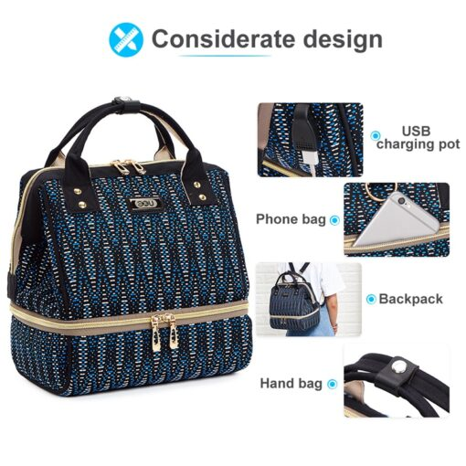 Small Mummy Maternity Baby Diaper Bag Backpack For Moms Gray Fashion Nappy Changing Bag Stroller Organizer 4
