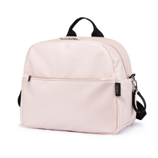 Soboba Diaper Backpack Bag for Mother Plaid Large Capacity Waterproof Pink Maternity Bag for Baby Care
