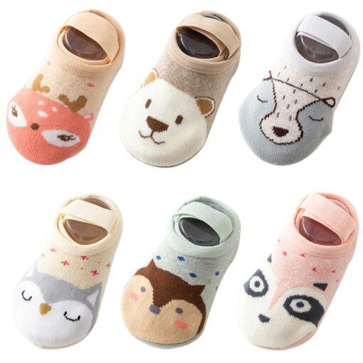 Socks Leg Warme Baby Socks Floor Non slip Cotton Cartoon Doll Socks Baby Toddlers shoes And 4