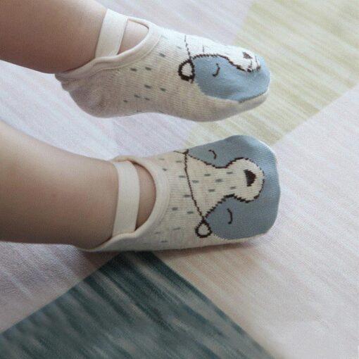 Socks Leg Warme Baby Socks Floor Non slip Cotton Cartoon Doll Socks Baby Toddlers shoes And