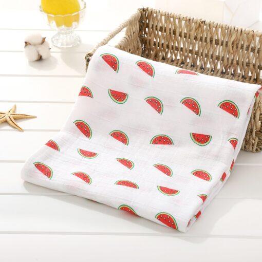 Soft 100 Cotton Muslin Baby Blanket Cartoon Animal Newborn Blankets Bath Gauze Towl Infant Muslin Swaddle 2