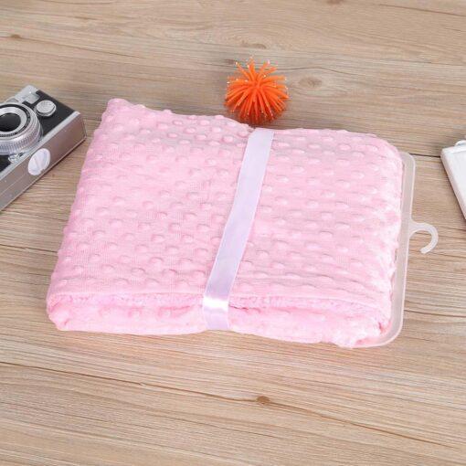 Soft Baby Stroller Sleep Cover Baby Blankets Warm Fleece Newborn Infant Bedding Quilt Swaddling Wrap Kids 2
