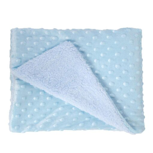Soft Baby Stroller Sleep Cover Baby Blankets Warm Fleece Newborn Infant Bedding Quilt Swaddling Wrap Kids 3