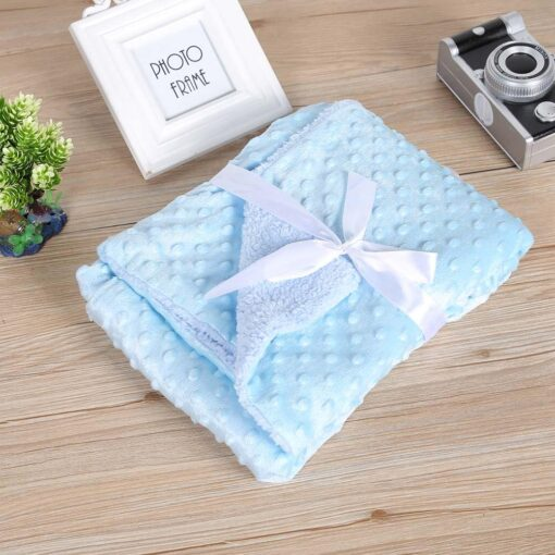 Soft Baby Stroller Sleep Cover Baby Blankets Warm Fleece Newborn Infant Bedding Quilt Swaddling Wrap Kids