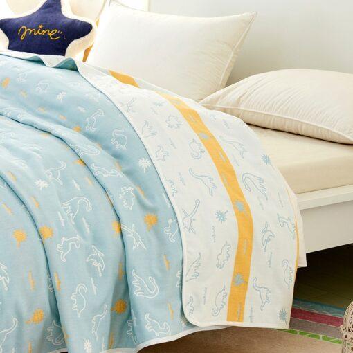 Soft Breathable Baby Blanket Newborn Products 6 Layers Muslin Cotton Growth Baby Blanket Newborn Baby Bath 5