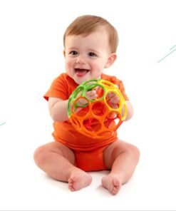 Soft Colorful Ball Toys Hand Bell Rattle Develop Toys Touch Bite Caught Hand Oball Ball For 6