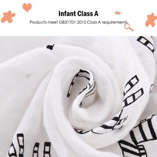 Soft Muslin 100 Cotton Baby Blanket Cute Cartoon Newborn Blankets Bath Gauze Infant Wrap Sleepsack Stroller 3