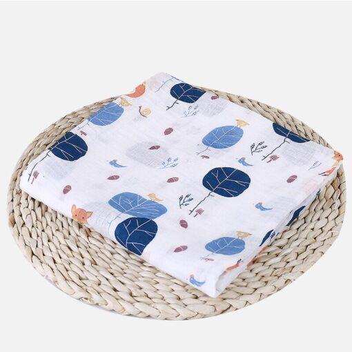 Soft Muslin 100 Cotton Baby Swaddles Cute Cartoon Newborn Blankets Bath Gauze Infant Wrap sleepsack Stroller 2