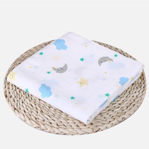 Soft Muslin 100 Cotton Baby Swaddles Cute Cartoon Newborn Blankets Bath Gauze Infant Wrap sleepsack Stroller 3