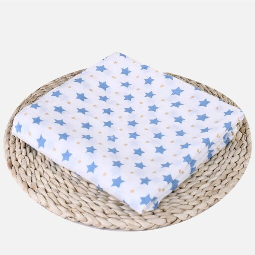Soft Muslin 100 Cotton Baby Swaddles Cute Cartoon Newborn Blankets Bath Gauze Infant Wrap sleepsack Stroller 4