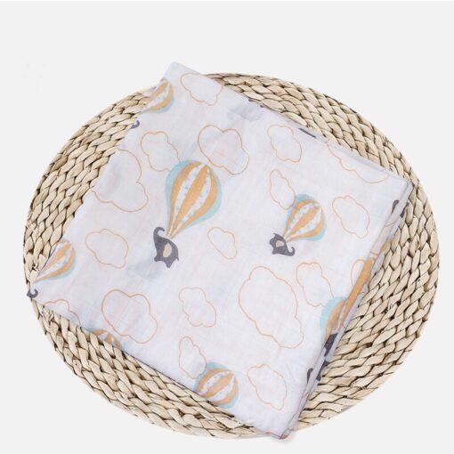 Soft Muslin 100 Cotton Baby Swaddles Cute Cartoon Newborn Blankets Bath Gauze Infant Wrap sleepsack Stroller 5