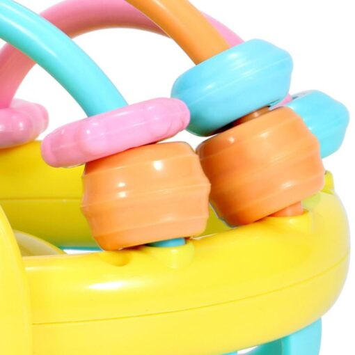 Soft Rubber Baby Toy Rattle Hand Knocking Rattle Dumbbell Early Educational Toy For Kid Hand Bell 3