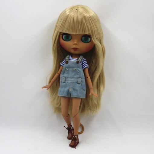 Special Price Blyth Joint body Nude Doll straight blond hair with without bangs new matte shell 3