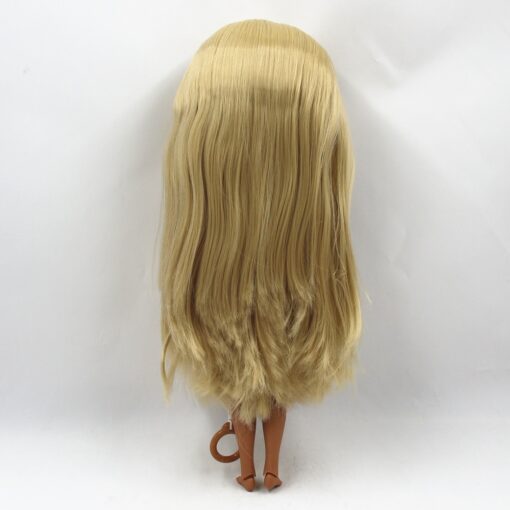 Special Price Blyth Joint body Nude Doll straight blond hair with without bangs new matte shell 5