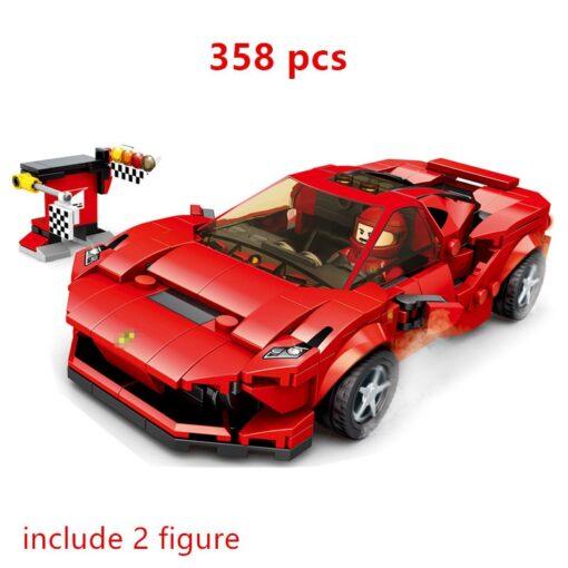 Speed Champions F8 Tributolys Huracan Super Trofeo EVO Car Building Blocks Kits Bricks Classic Model Kids 3