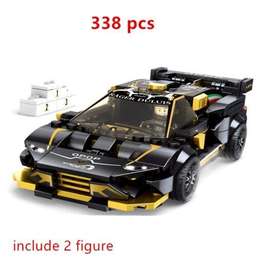 Speed Champions F8 Tributolys Huracan Super Trofeo EVO Car Building Blocks Kits Bricks Classic Model Kids 4