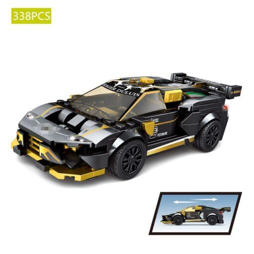 Speed Champions F8 Tributolys Huracan Super Trofeo EVO Car Building Blocks Kits Bricks Classic Model Kids 5
