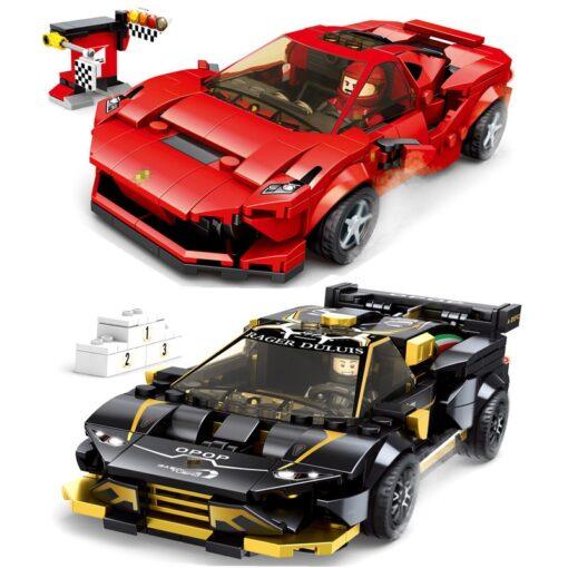 Speed Champions F8 Tributolys Huracan Super Trofeo EVO Car Building Blocks Kits Bricks Classic Model Kids