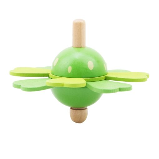 Spinning Top Children Classic Toys Flower Wooden Spinning Top Traditional Intelligence Development Educational Wooden Kid Toy 2
