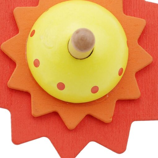 Spinning Top Children Classic Toys Flower Wooden Spinning Top Traditional Intelligence Development Educational Wooden Kid Toy 4