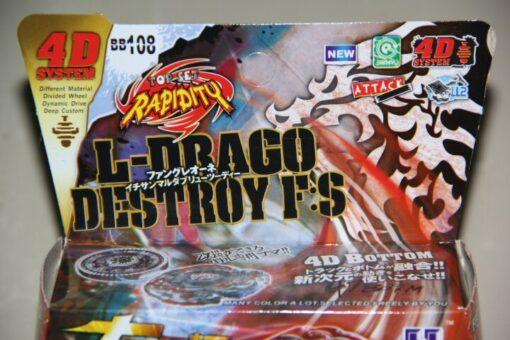 Spinning Top Factory 4D L Drago Destroy Destructor Fury Starter Set Metal Fusion spin 1