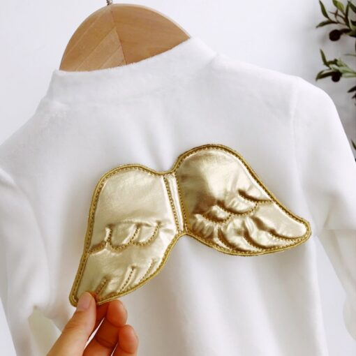 Spring Autumn Long Sleeve Angel Wings Baby Clothes 0 18 Months Fashion Newborn Cute One Piece 2