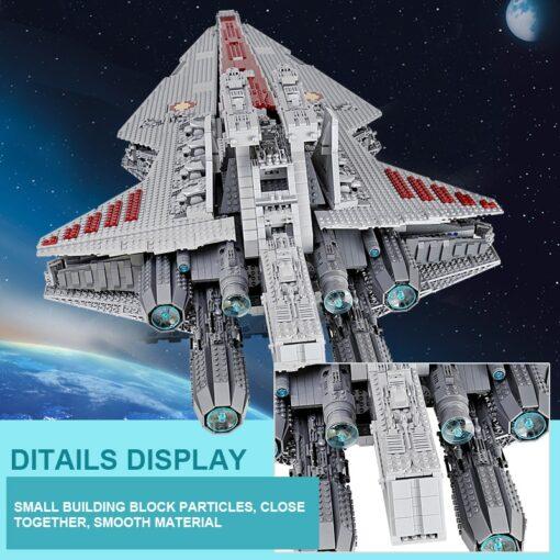 Star Toys Wars UCS Venator Republic Attack Cruiser Set Buidling Blocks Bricks Toys Compatible MOC 0694 3