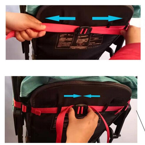 Stroller Backrest Retractable Belt Adjustable Retractable Belt Stroller Accessories Universal Backrest Releasable Safety Belt 3